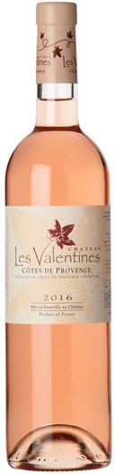 Chateau les Valentines Rosé 2016
