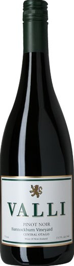 Valli Wine Valli Pinot Noir Bannockburn, Central Otago NZ 2012