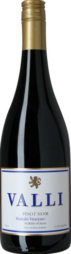 Valli Wine Valli Pinot Noir Waitaki, North Otago NZ 2012