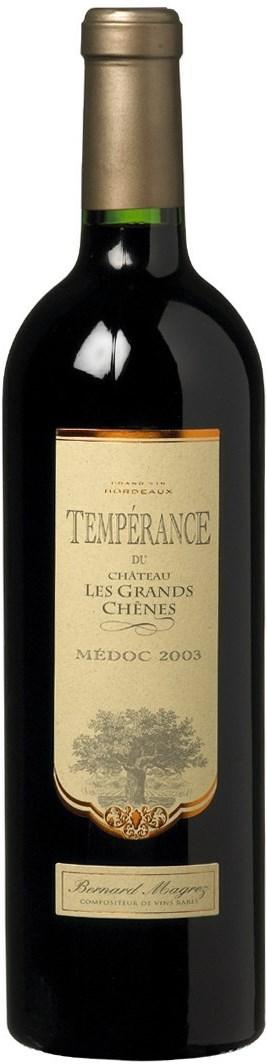 Bernard Magrez Temperance de Château les Grands Chenes AOP 2003