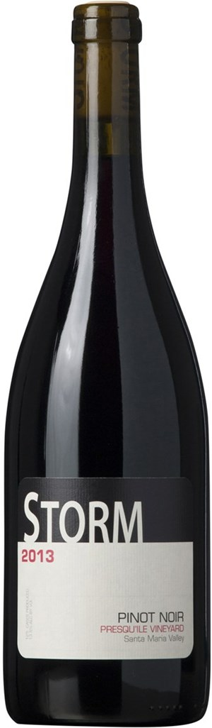 Storm Wines Presquile Pinot Noir, Santa Maria Valley, 2013